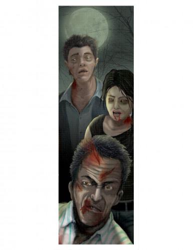 Gruseliges Zombie Hologramm Halloween Party-Deko bunt 94x29cm