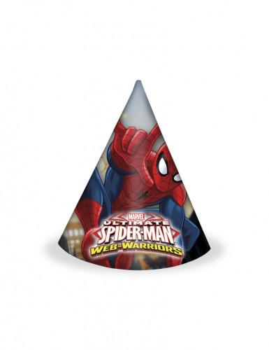 Spitze Spider-Man™ Hüte 6 Stück bunt
