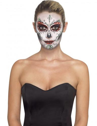 Tag der Toten Sugar Skull Make-Up Schmink-Set bunt