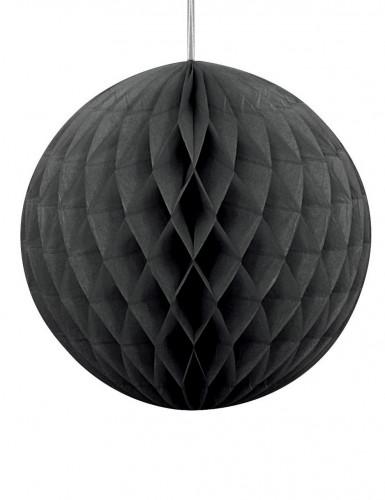 Wabendeko Papierdekoration für Halloween schwarz 20 cm