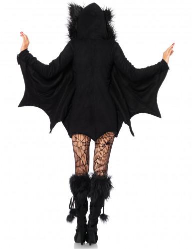 Süsse Fledermaus Halloween Damenkostüm schwarz-2