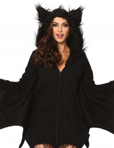 Süsse Fledermaus Halloween Damenkostüm schwarz-1