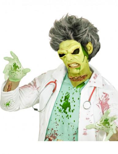 Infizierte Schnittwunden Halloween Latexapplikation haut-rot-grün 2er-Set