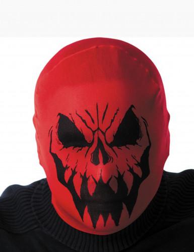 Rote Monster Maske für Erwachsene Halloween rot