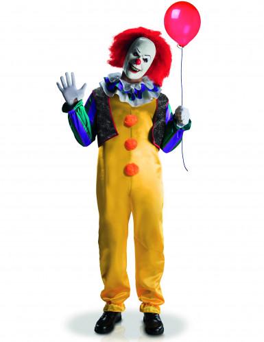 Pennywise™-Herrenkostüm Deluxe Clown-Kostüm ES Lizenzartikel bunt