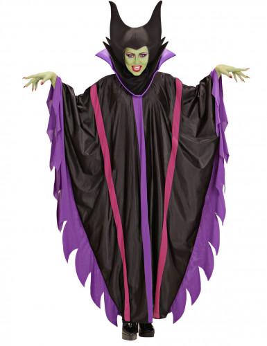 Böse Fee Halloween Damenkostüm schwarz-lila