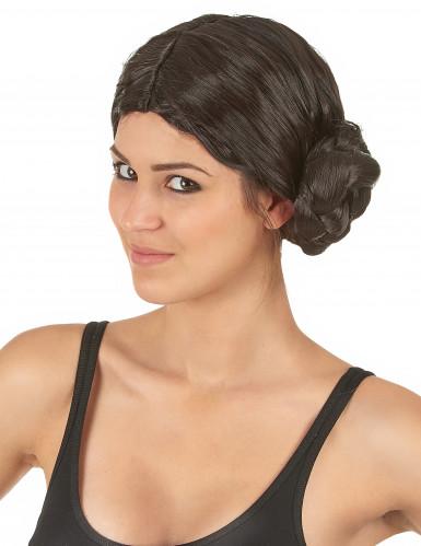 Kriegerprinzessin-Perücke für Damen braun