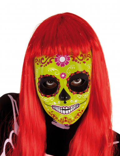 Dia de los Muertos Maske Sugar Skull Maske grün