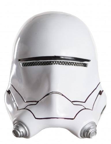 Flametrooper™ Halbmaske für Erwachsene Star Wars VII™ weiss-schwarz-grau 26,5x22cm