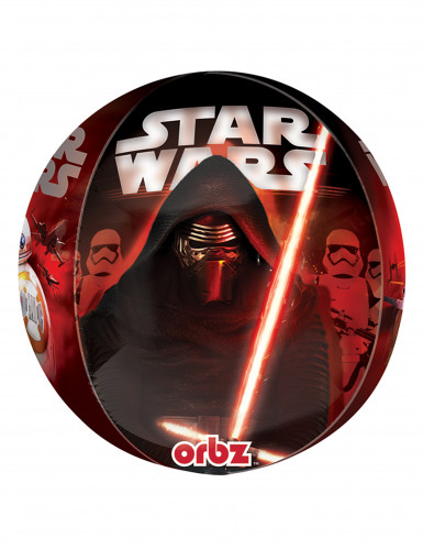 Aluminium-Ballon Star Wars VII™ Kylo Ren Dekoration schwarz-rot 38x40cm