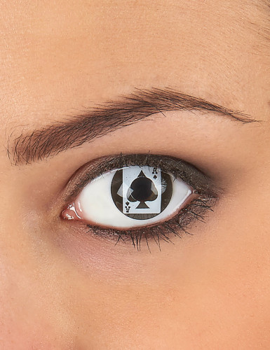 Kontaktlinsen Pik Ass schwarz-weiss