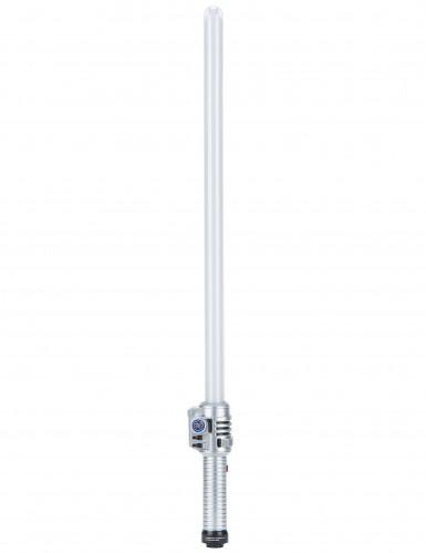 Leuchtendes Schwert mit Geräuschen silber 70cm