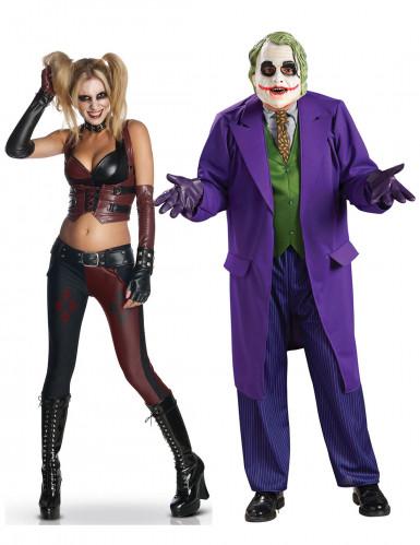 Halloween Paarkostüm Joker & Harley Quinn bunt