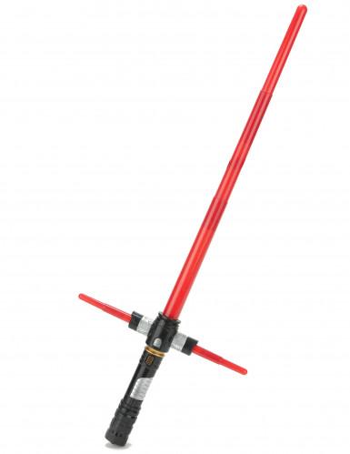 Kreuz-Lichtschwert Laserschwert mit Soundeffekt rot-schwarz 81cm