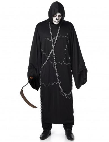 Gruseliger Ghul Halloweenkostüm Geist schwarz-weiss