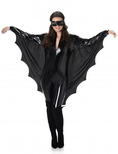 Sexy Vampir-Fledermaus Halloween-Damenkostüm schwarz