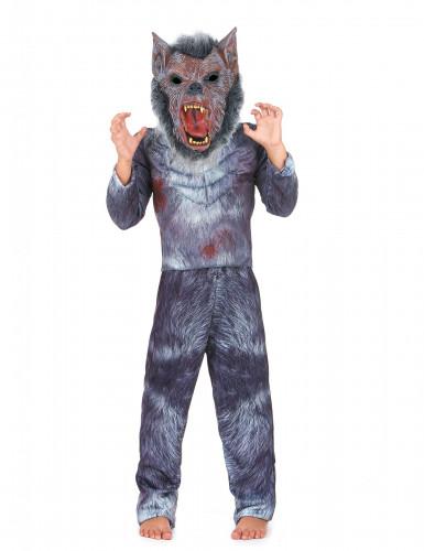 Werwolf Halloween Kinderkostüm grau-braun