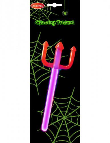 Leuchtender Dreizack Halloween-Knicklicht bunt 24cm