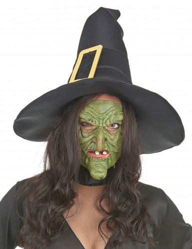 Grüne Hexenmasken aus Latex