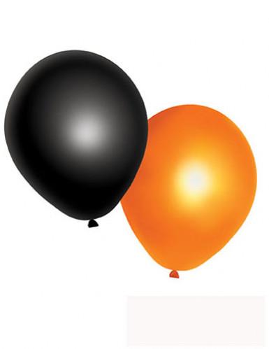 Luftballons Halloween-Partydeko 10 Stück schwarz-orange