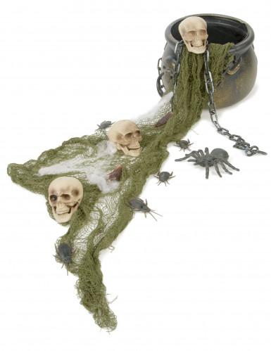 Hexenkessel-Set Halloween 12-teilig schwarz-weiss-grün