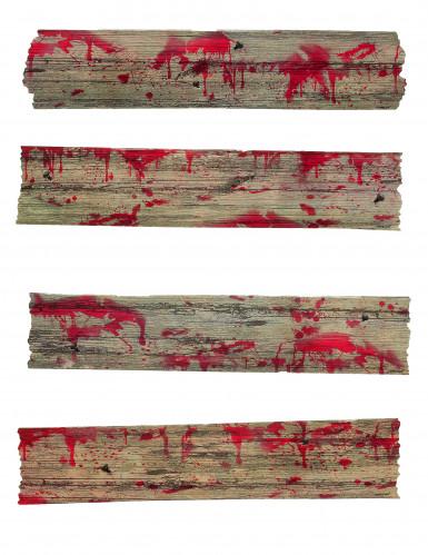 Halloween-Dekoration Zombie-Barrikade braun-rot