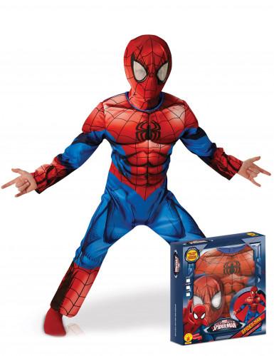 Ultimate Spider-Man™ Deluxe-Kinderkostüm blau-rot-schwarz