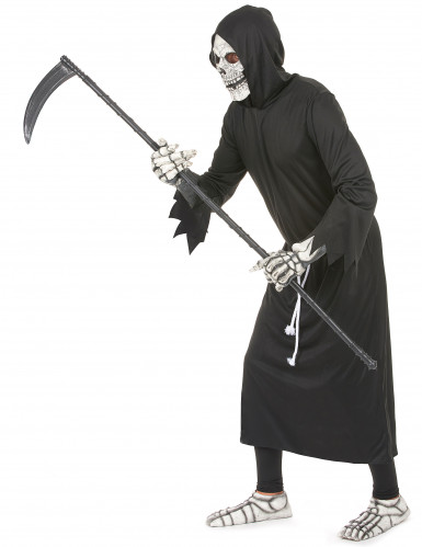 Sensenmann Halloween-Kostüm Gevatter Tod schwarz-1