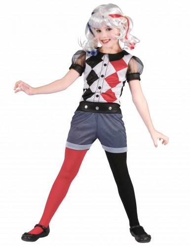 Harlekin-Kostüm für Mädchen bunt