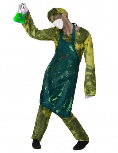 Verseuchter Zombie-Chirurg Halloween-Herrenanzug grün