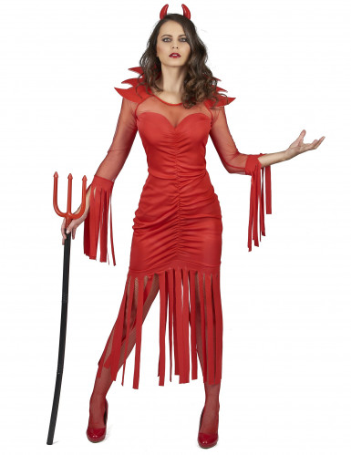 Sexy Teufelin Halloween-Damenkostüm rot
