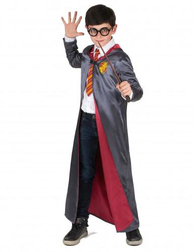 Zauberlehrling Halloween-Kinderkostüm grau-rot