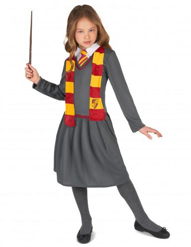 Zauberschülerin Halloween-Kinderkostüm grau-rot-gelb