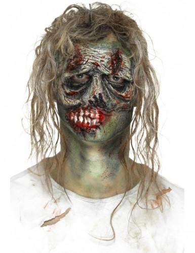Latexapplikation-Zombiegesicht Halloween grau