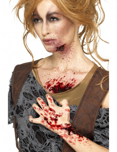 Verkrustetes Blut Wundschorf Halloween Make-up rot