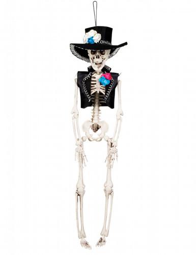 Dia de los Muertos Skelett Halloween-Hängedeko bunt 40cm