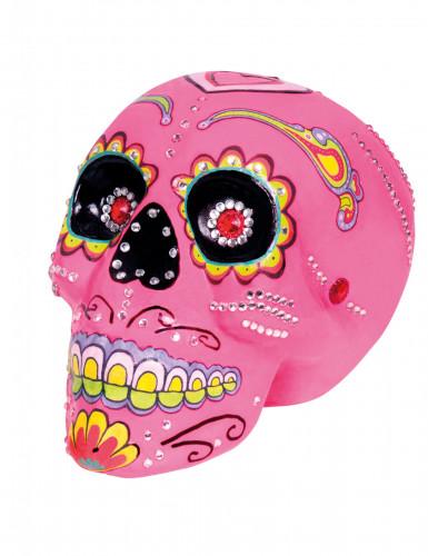 Dia de los Muertos Sugar Skull Deko-Totenschädel bunt 20 x 14cm