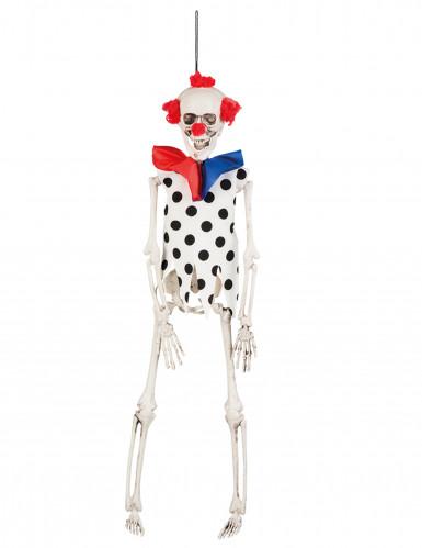 Skelettclown Horrorclown weiss-rot-blau 40cm