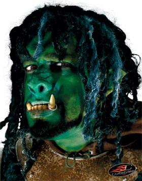 Ork-Nase Kostüm-Accessoire grün