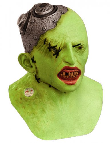 Agent Zero Halloween-Maske grün-metallic