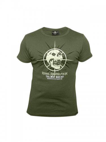 Tollwut Streetwear T-Shirt 'FAGET' oliv