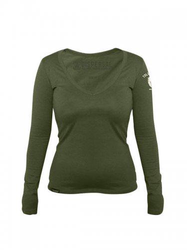 Tollwut Streetwear Sweatshirt Damen 'BERET' oliv