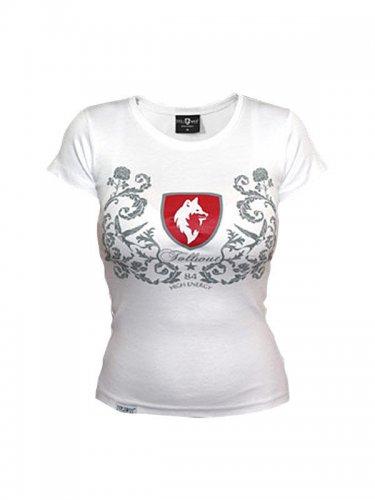 Tollwut Streetwear Girlie Shirt 'FAITH' weiss