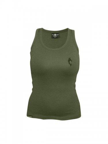 Tollwut Streetwear Damen Tanktop 'SQUAD' grün