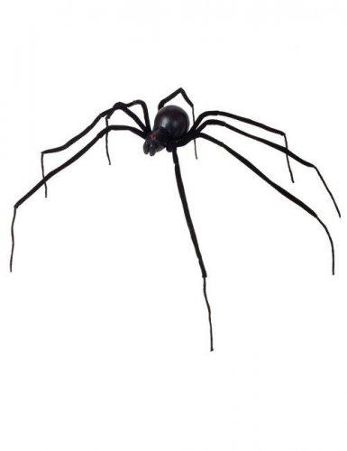 Riesenspinne Halloween Deko schwarz 110cm