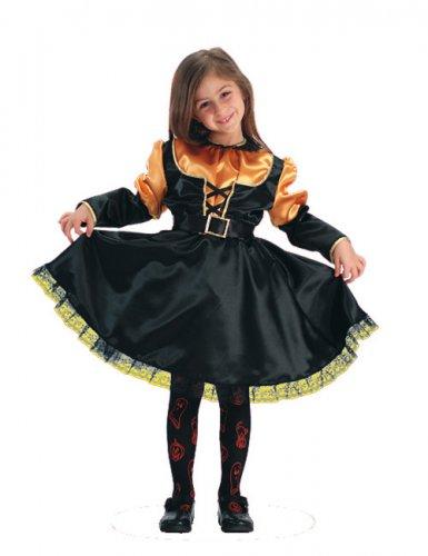 Kürbis-Prinzessin Kinder-Kostüm schwarz-orange