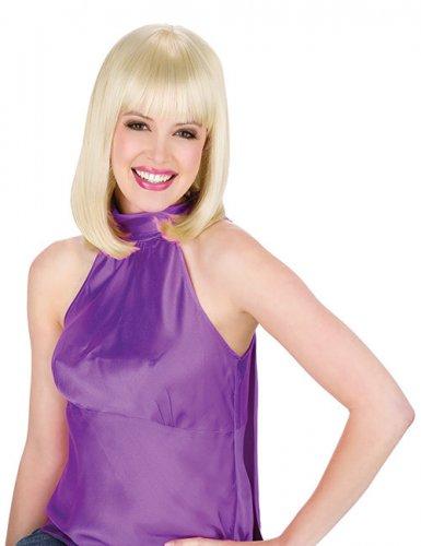 Deluxe Damen Kurzhaar-Perücke mit Pony blond