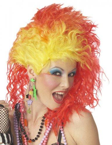 80er Jahre Glam-Rock-Lady Perücke