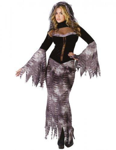 Bride of Darkness Zombiebraut Halloweenkkostüm schwarz-grau