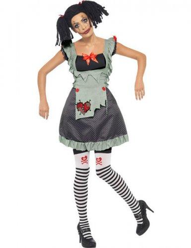 Ragdoll Horror Gothic Puppe Halloween Damenkostüm schwarz-weiss-rot